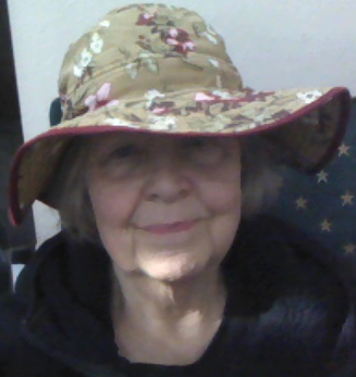 Me in my garden hat, required indoors since I got Solatube for my plants