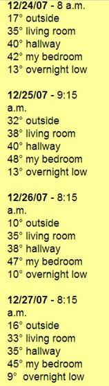 '07 Temperature Chart